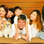 MEGA FAMILY Kiko and Sharon Cuneta Pangilinan with KC, Frankie, Mie, and Miguel at home