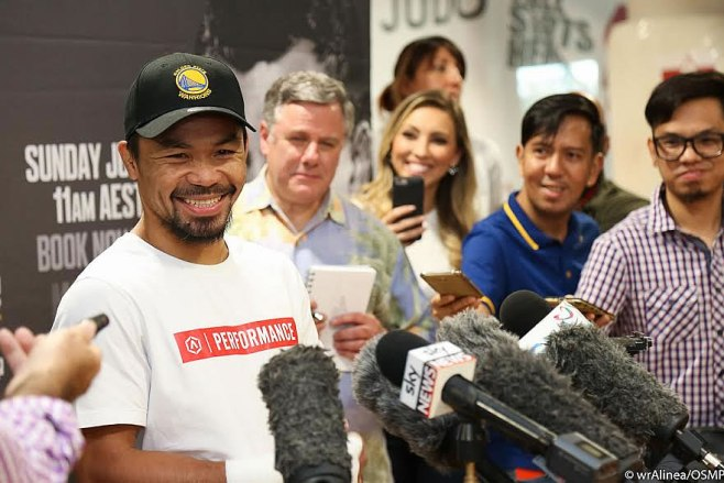 Pacquiao vs Horn press conference