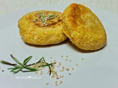 Hambúrgueres Vegetarianos de Grão de Bico