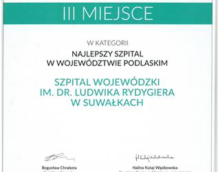 Najlepszy szpital w województwie podlaskim