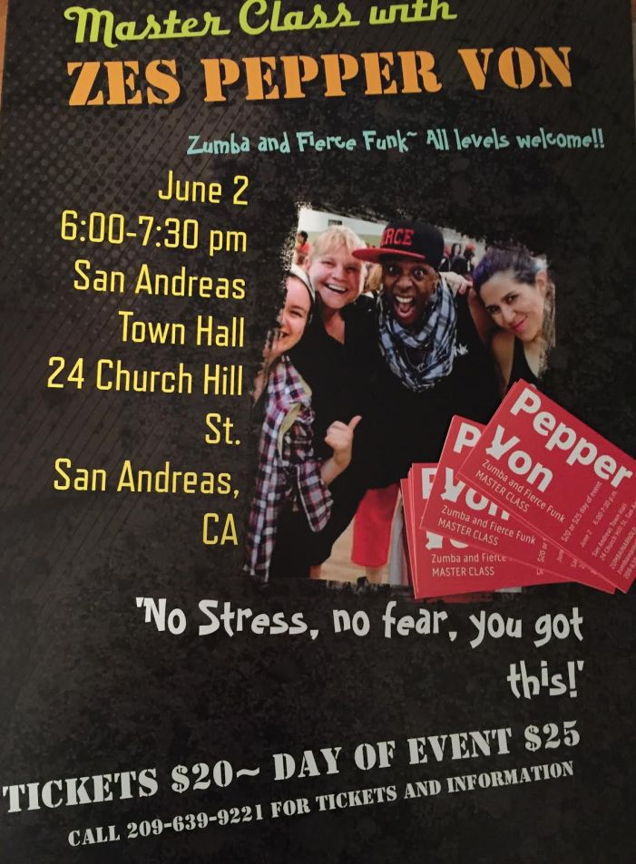 Pepper Von Zumba & Fierce Funk Master Class June 2