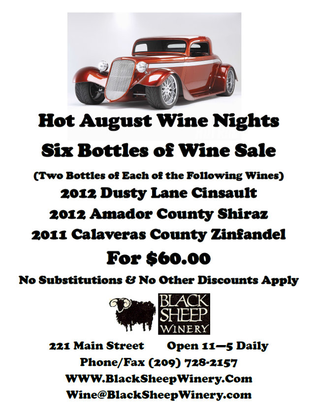 Hot August Wine Specials From Black Sheep Winery