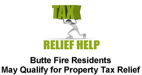 Butte Fire Residents May Qualify for Property Tax Relief