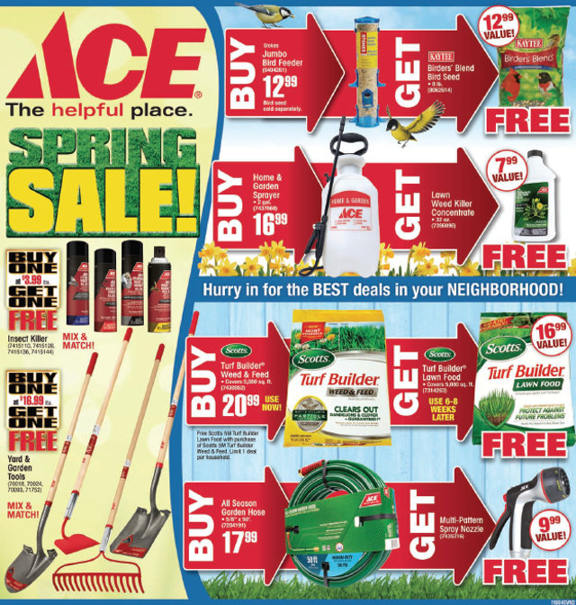 The Big Arnold Ace Home Center Spring Sale