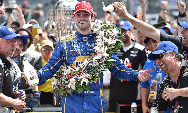 Nevada City's Alexander Rossi Crosses Finish Line On fumes To Take 100th Running Of Indy 500 ~ IndyCar