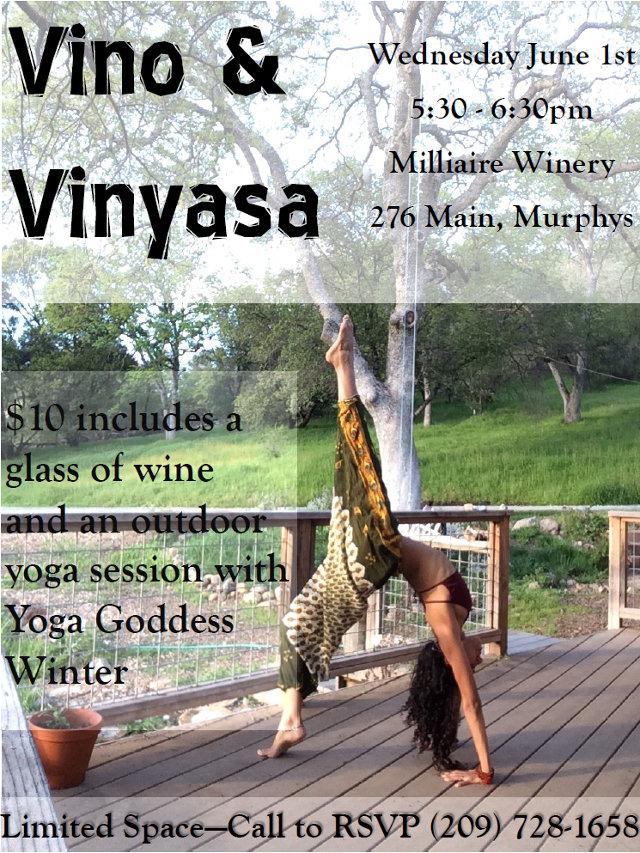 Vino & Vinyasa Wine & Yoga Wednesday June 1st