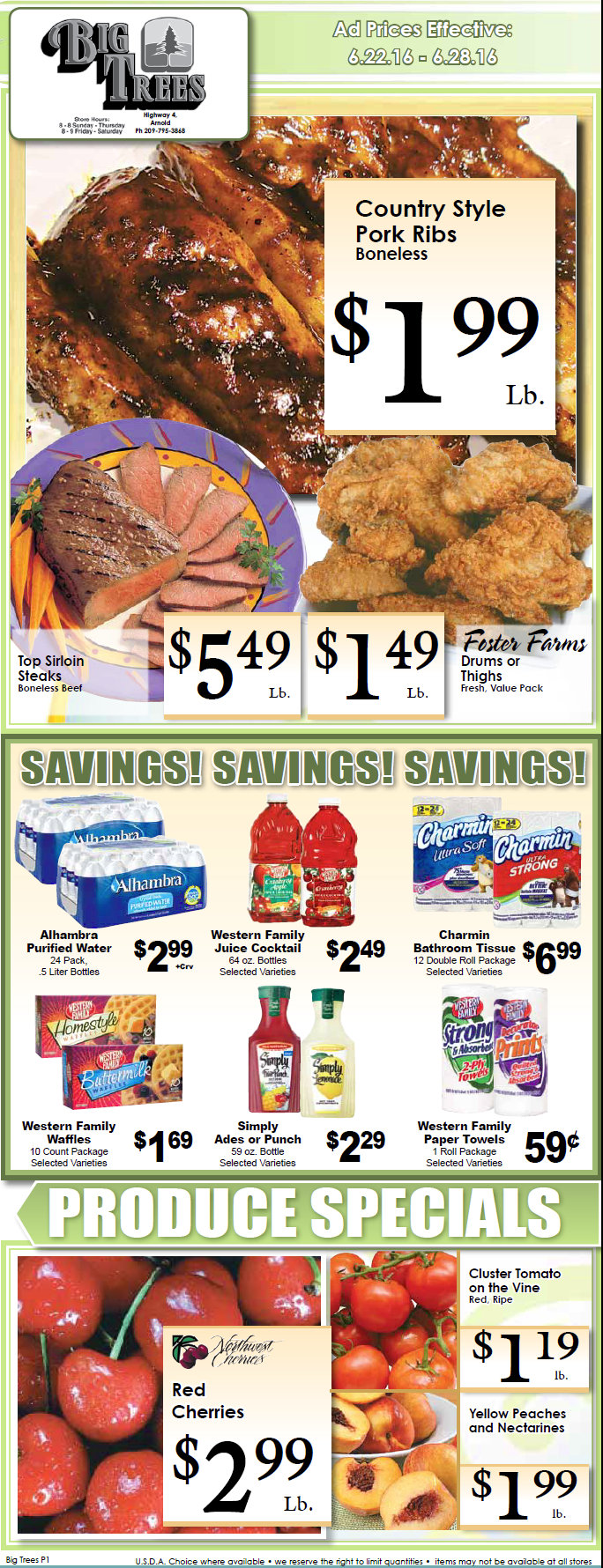 Big Trees Market Weekly Ad Through June 28th