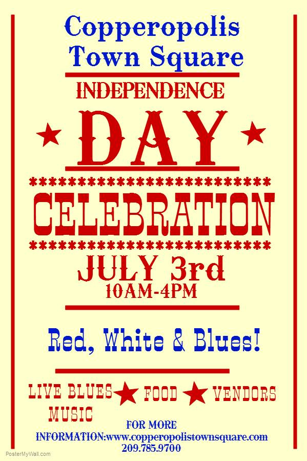On July 3rd It's Red White And Blues At The Square With The Shakers!