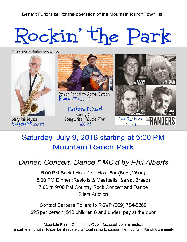 Rockin' the Park Fundraiser In Mountain Ranch