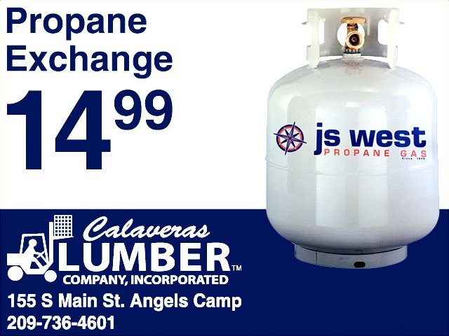 Fuel Your Winter Fun With $14.99 Propane Exchange Tanks From Calaveras Lumber