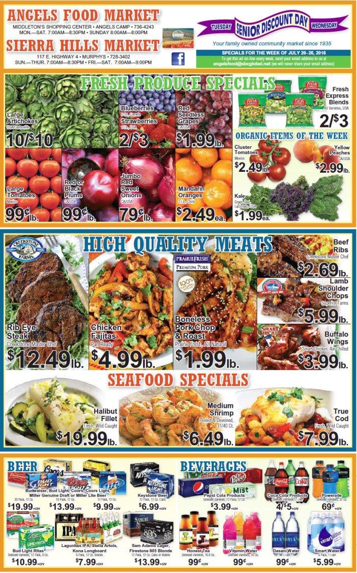 Angels Food & Sierra Hills Markets Weekly Ad Through July 26