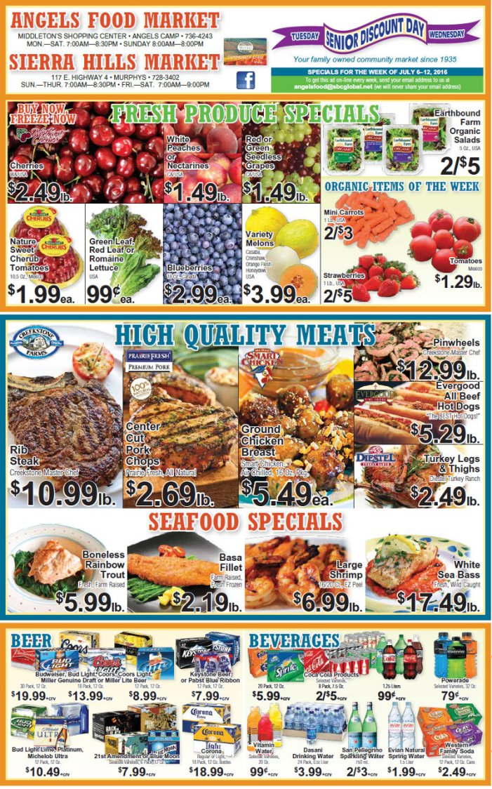 Angels Food & Sierra Hills Markets Weekly Ad July 6 – July 12