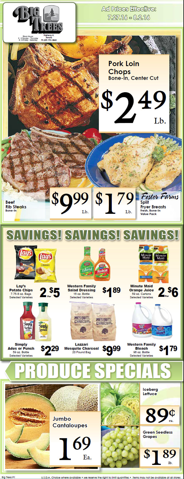Big Trees Market Weekly Ad & Specials Through August 2nd