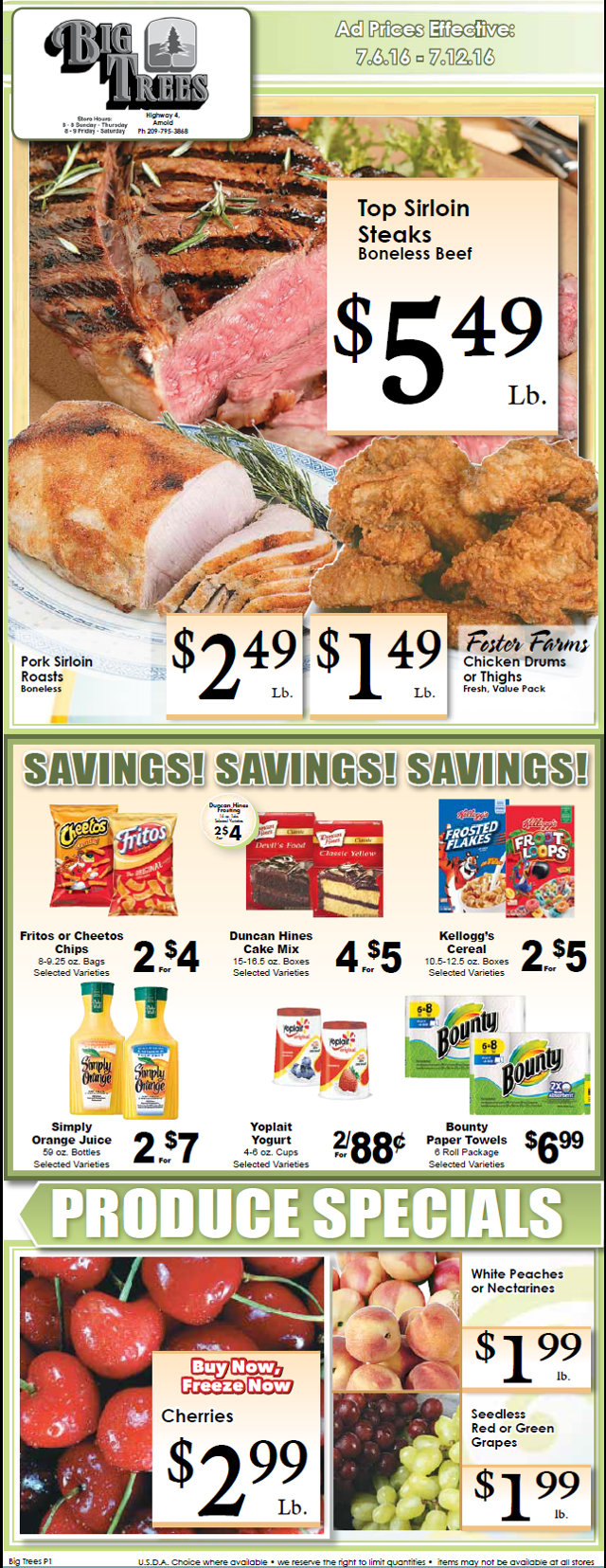 Big Trees Market Weekly Ad & Specials Through July 12th