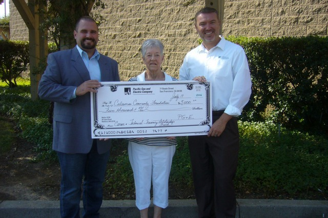 Calaveras Community Foundation Receives Donation from Pacific Gas and Electric Company