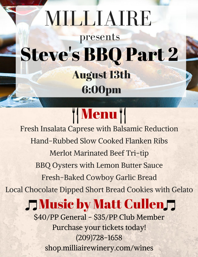 Don't Miss Steve's BBQ Part Two!!