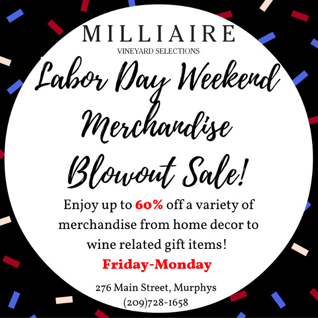 The Big Labor Day Weekend Sale At Milliaire