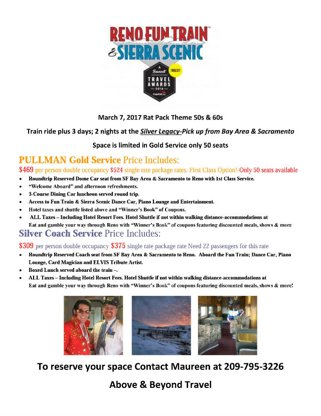 All Aboard The Reno Fun Train And Sierra Scenic