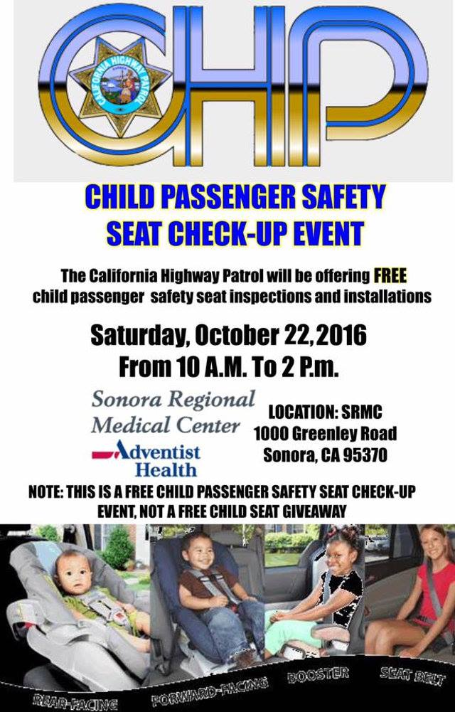 SRMC & CHP Host Child Safety Seat Check Up