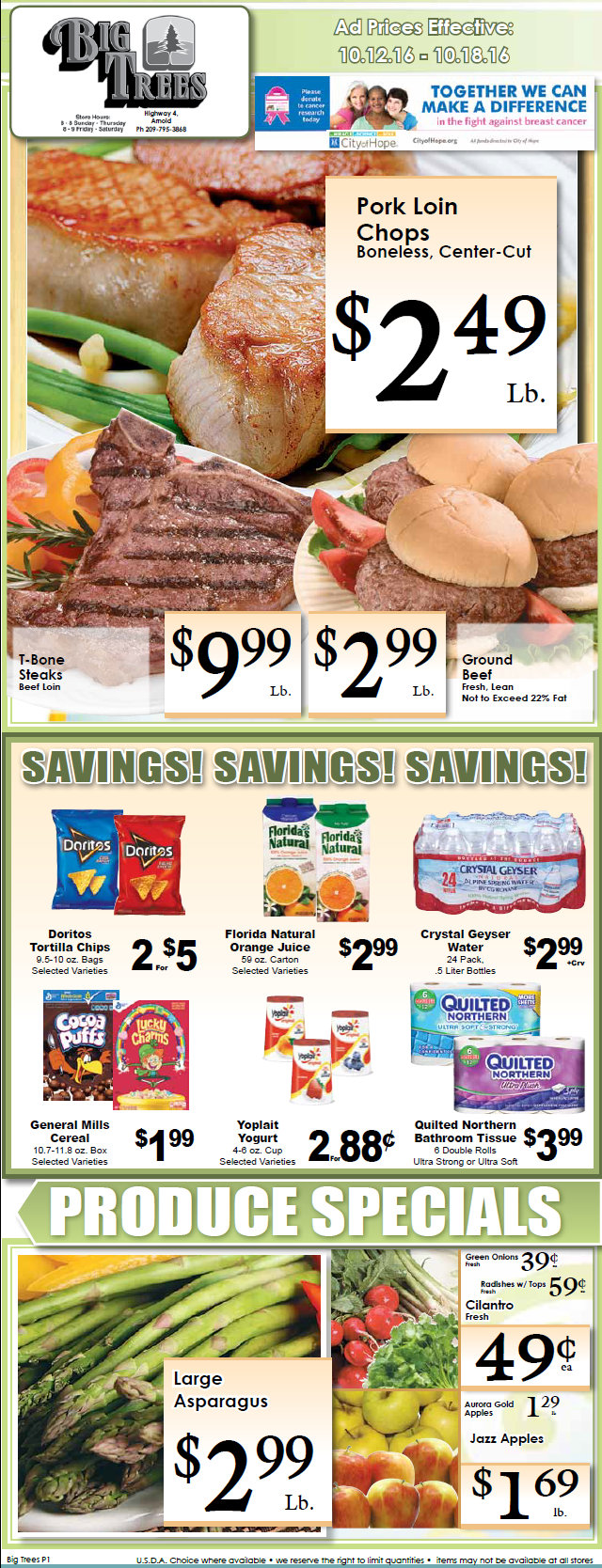 Big Trees Market Weekly Ad & Specials Through October 18th