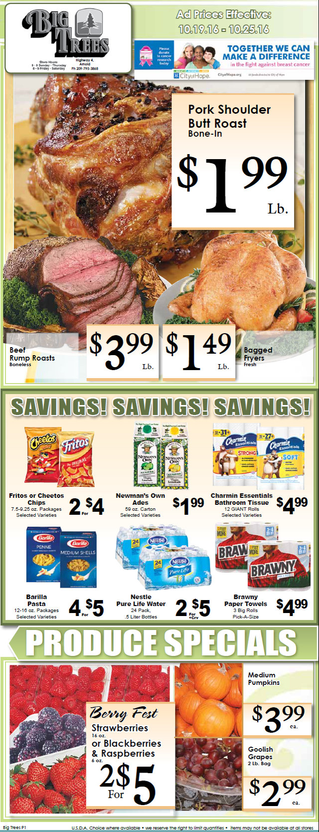 Big Trees Market Weekly Ad & Specials Through October 25th