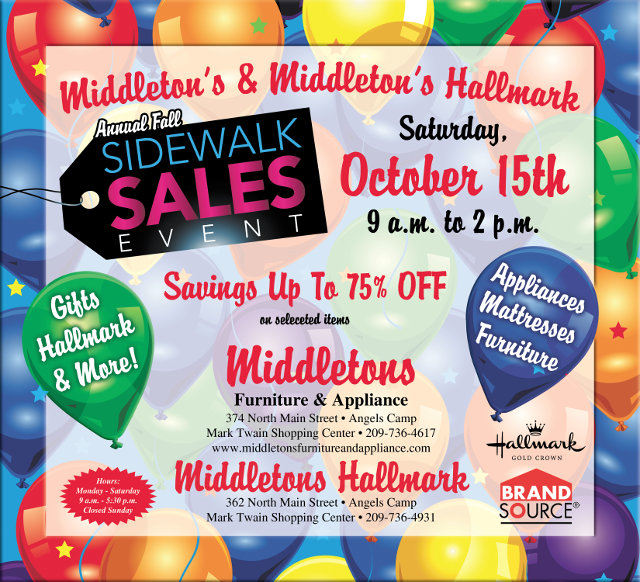 Middleton's & Middleton's Hallmark Big Sidewalk Sale!!