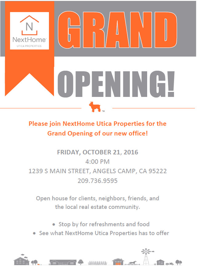 The Next Home Utica Property Grand Opening Is October 21st!