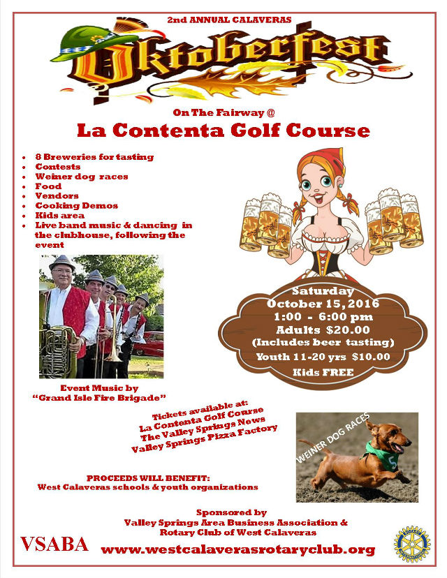 Here Comes The 2nd Annual Calaveras Oktoberfest!