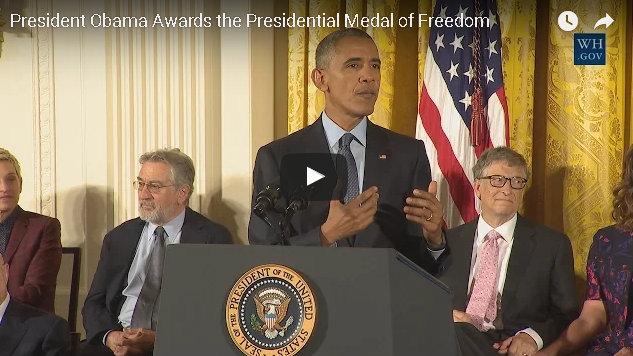 President Obama Awards the Presidential Medal of Freedom