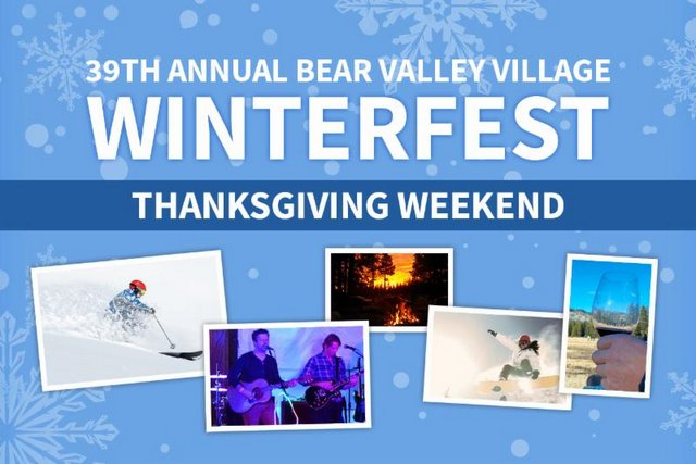 Make Plans For Winterfest Weekend In Bear Valley!  The 2016/17 Season Starts This Weekend!!