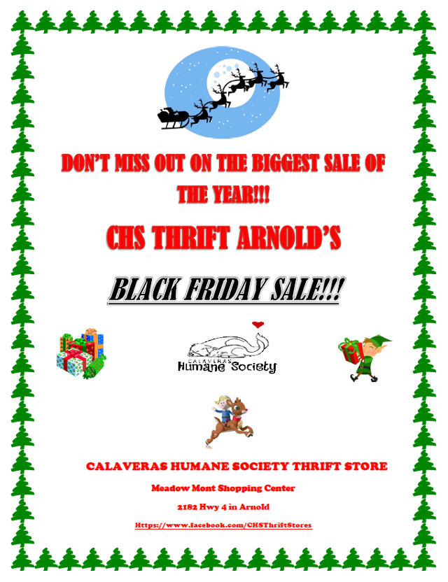 Calaveras Humane Society's Thrift Store Is Your Black Friday Destination