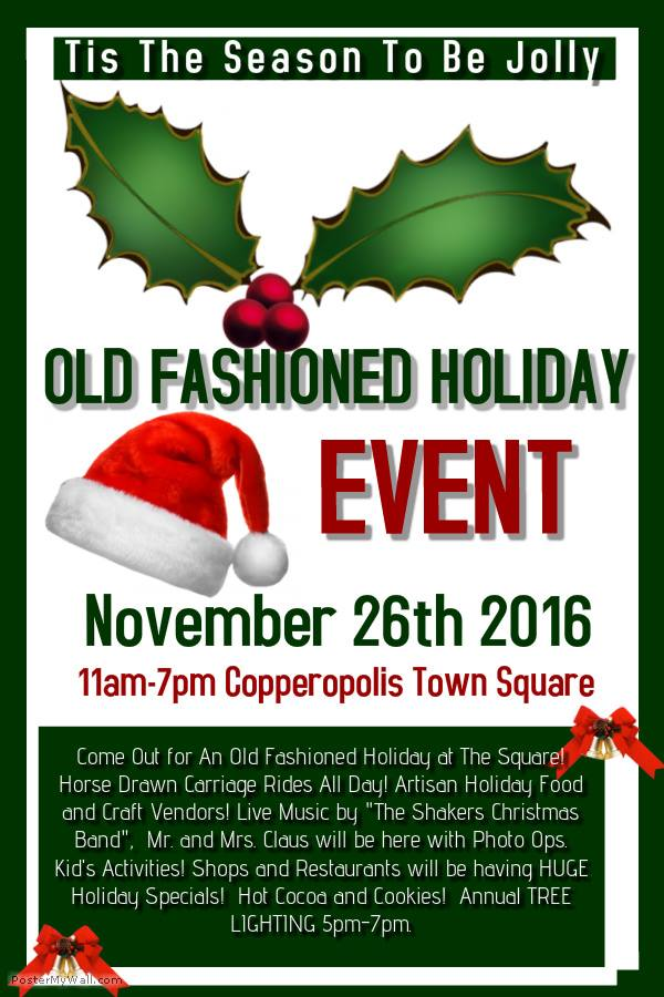 'Old Fashioned Holiday & Tree Lighting At The Square' Coming To Copperopolis November 26
