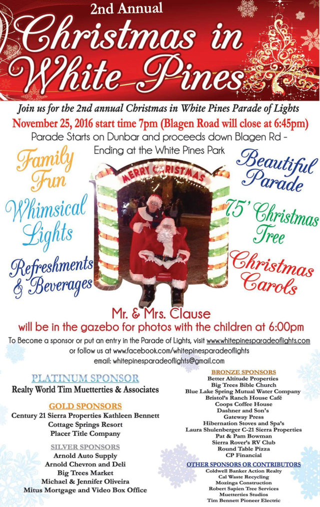 The 2nd Annual Christmas In White Pines Parade Of Lights