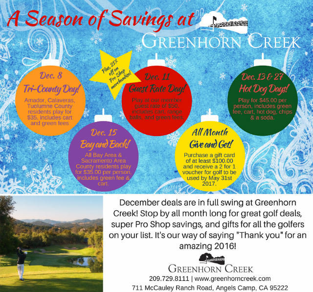 Don't Miss A Season Of Savings At Greenhorn Creek!