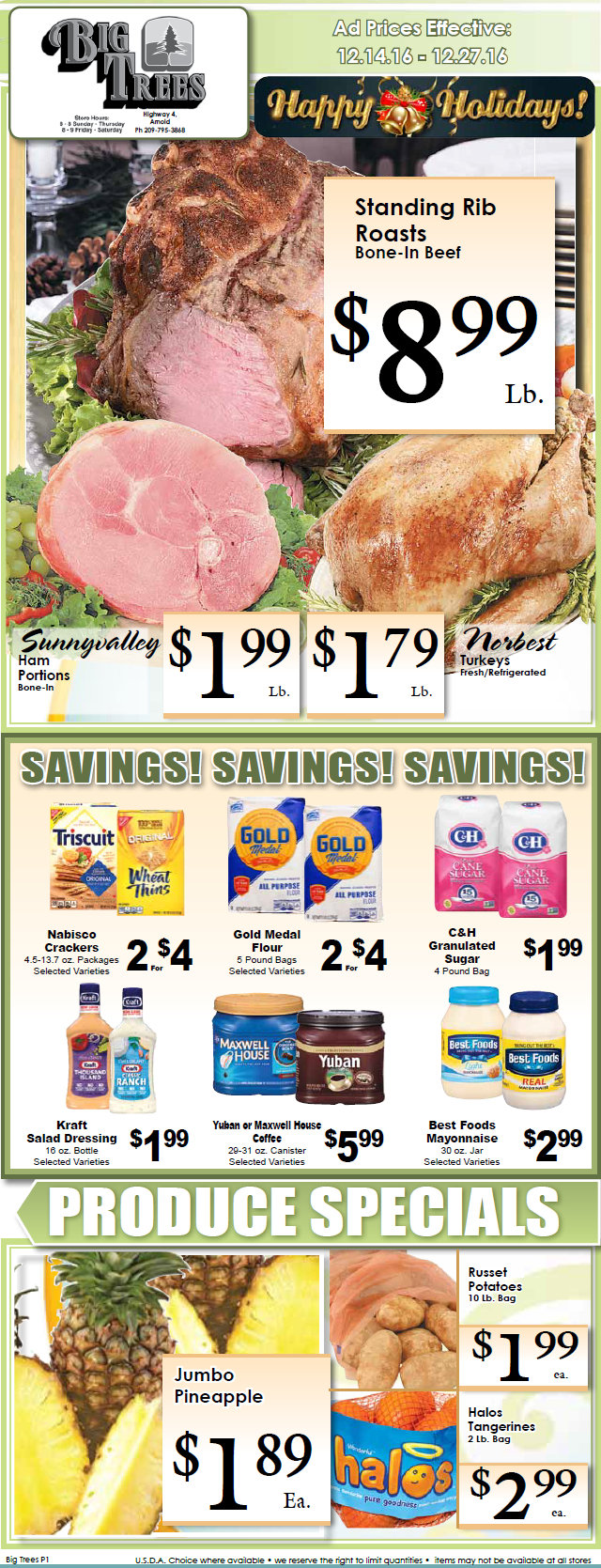 Big Trees Market Weekly Ad & Specials Through December 27th