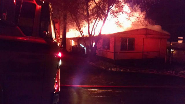 House Fire In Columbia Mobile Home Park