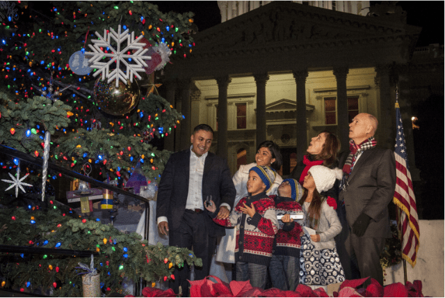 Governor Brown Hosts 85th Annual Capitol Christmas Tree Lighting Ceremony
