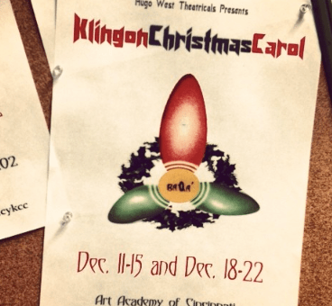 A Klingon Christmas Carol - Special Pricing Tonight!
