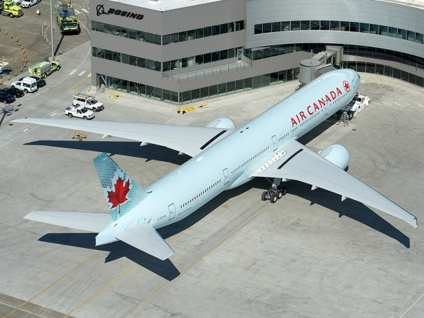 Sparkling New Air Canada 777 300er C Fivx At The Boeing Delivery Center