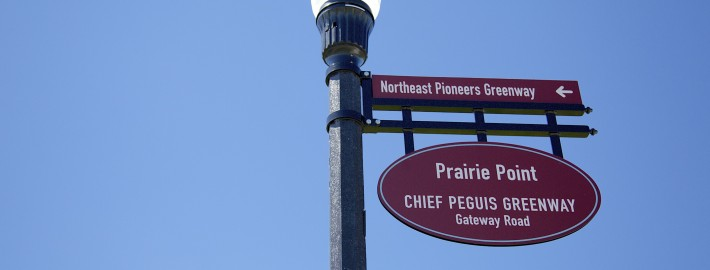 directional sign post