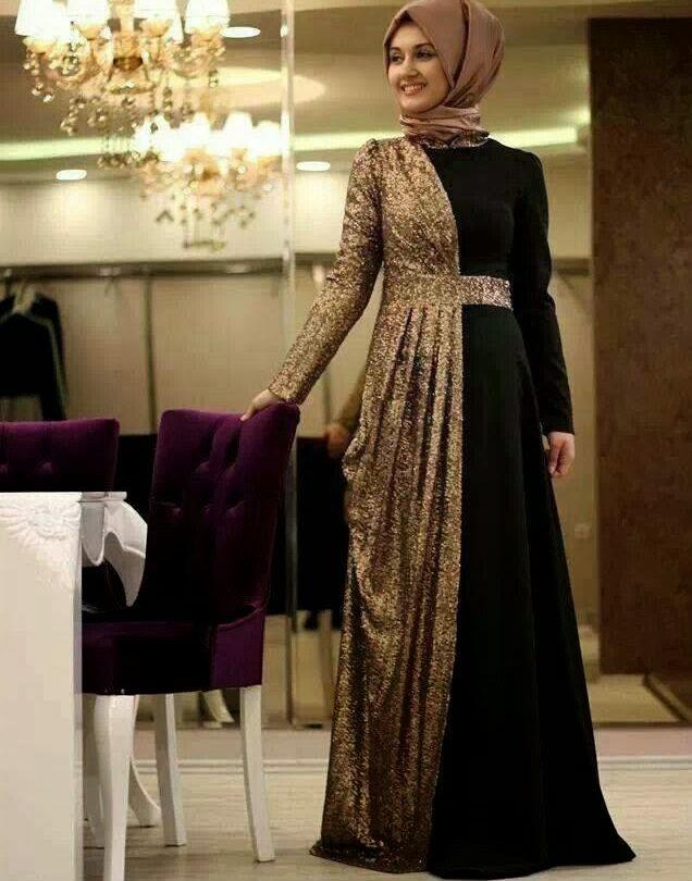 فساتين محجبات سهرة شاهدي اروع واحدث فستان سهرات مناسب