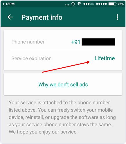 check-whatsapp-service-lifetime-period
