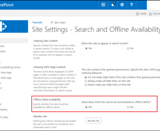 How to enable or disable sync for SharePoint Document Library
