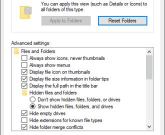 Open File Explorer Options in Windows 10
