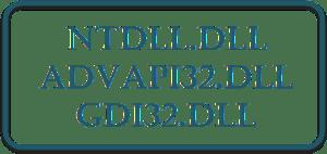 Ntdll.dll, Advapi32.dll, Gdi32.dll files explained