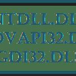 Ntdll.dll, Advapi32.dll, and Gdi32.dll