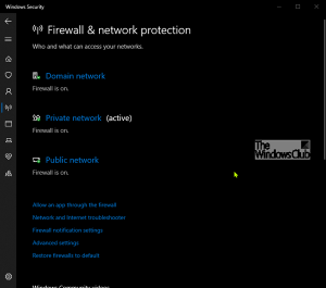 What is Firewall and Network Protection in Windows 10 and how to hide this section