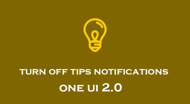 turn off one ui 2 notifications