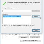 How do I add a Trusted Site in Windows 10
