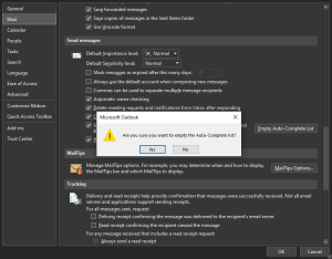 How to delete old email IDs from auto-complete list in Outlook
